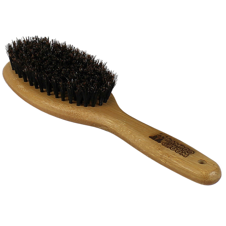 Bamboo Groom Oval Bristle Brush