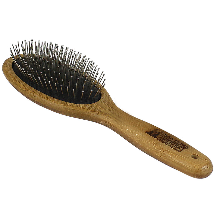 Bamboo Groom Oval Pin Brush