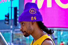 Load image into Gallery viewer, Â1 Purple & Gold Beanie