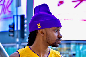 Â1 Purple & Gold Beanie