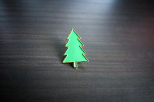 Little Green Tree Enamel Pin