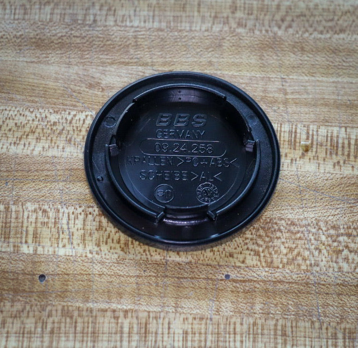 BBS Replacement Center Cap ( Black / Silver | 70mm | 3 Tab | 09.24.258 )