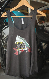 Shark Attack - Women's Tri-Blend Racerback Tank