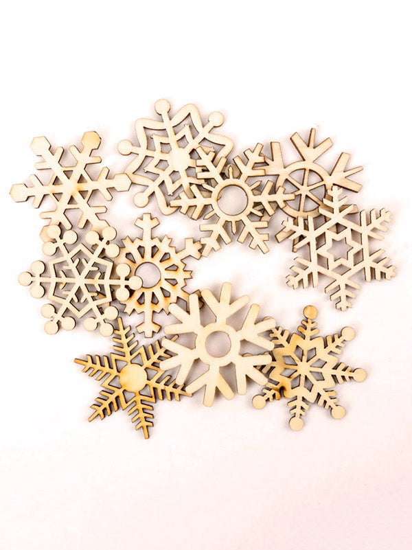 Hollow Christmas Snowflake Wood Piece For DIY Craft