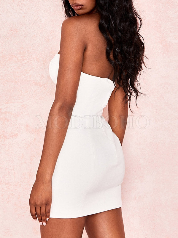 Sexy Backless Hip-Package Mini Dress