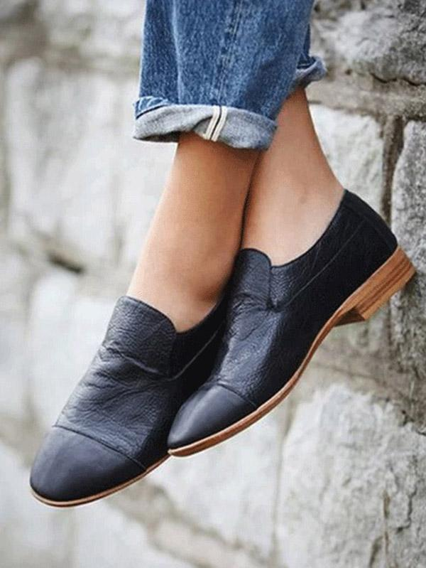 Solid Pumps Slip-on Shoes