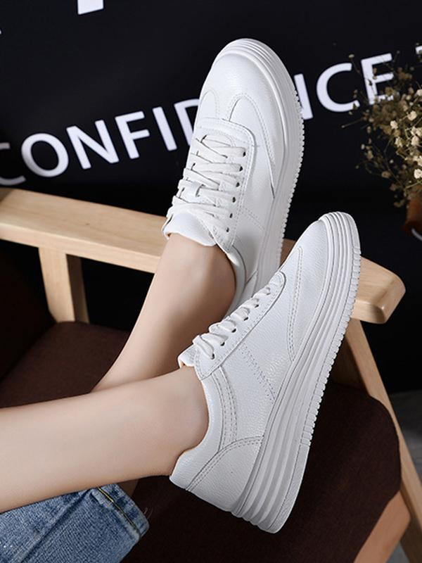 Solid Color Casual Sports Shoes