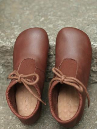 The new Lace-up Genuine leather Soft Shoes