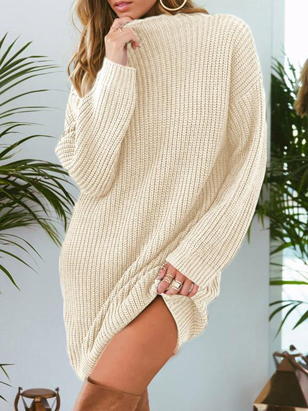 11beb06d24c4f9 Casual Solid Knitting Sweater Tops – modiboho