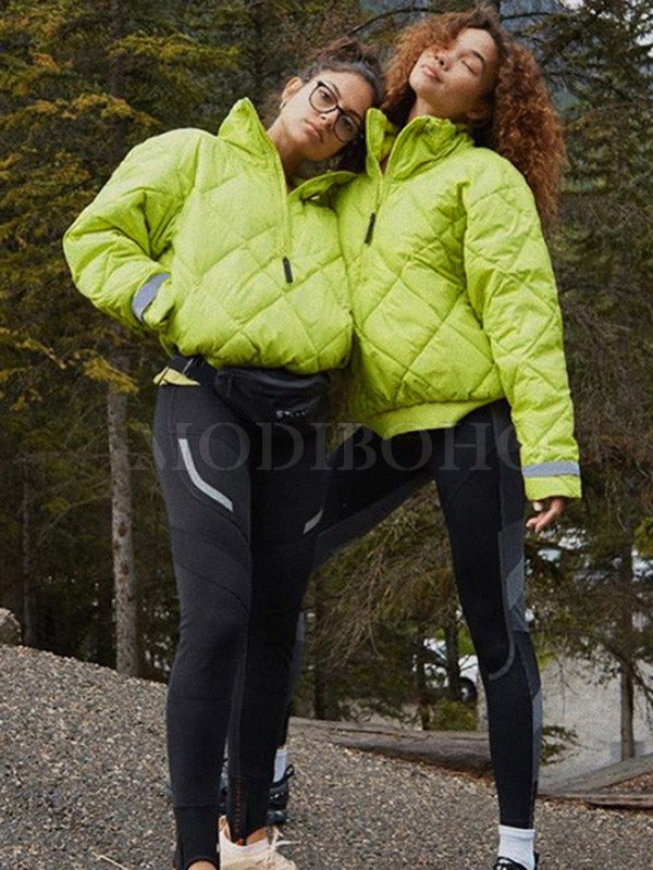 Fluorescent Thicken Cotton-Padded Outwears