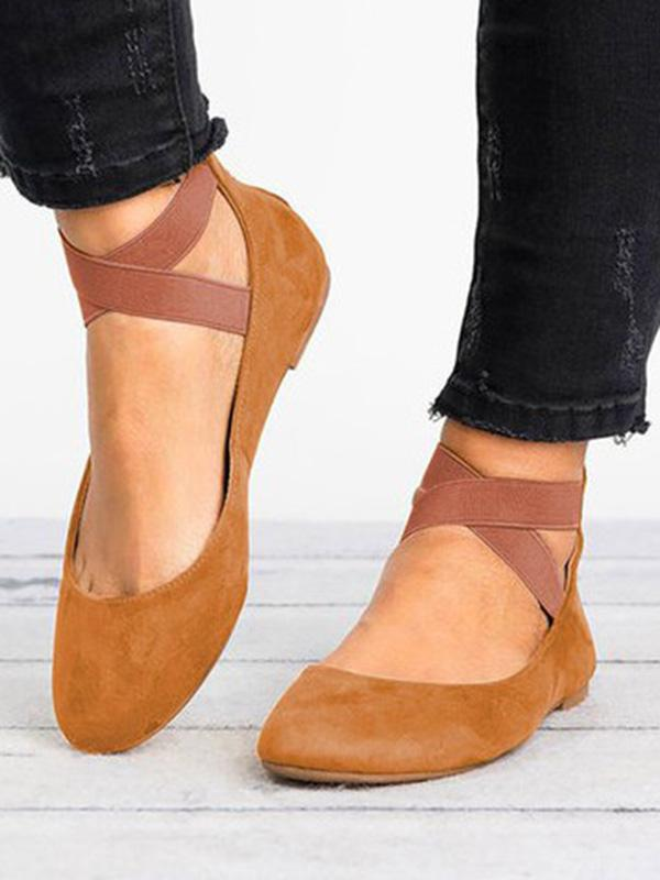 Elastic Bandage Flats Shoes