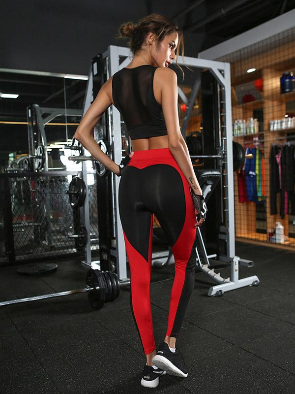 Two Tone Contrast Yoga Gym Leggings