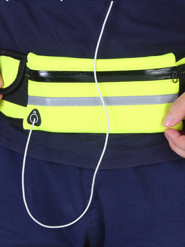 Color Contrast Sports Waist Bag