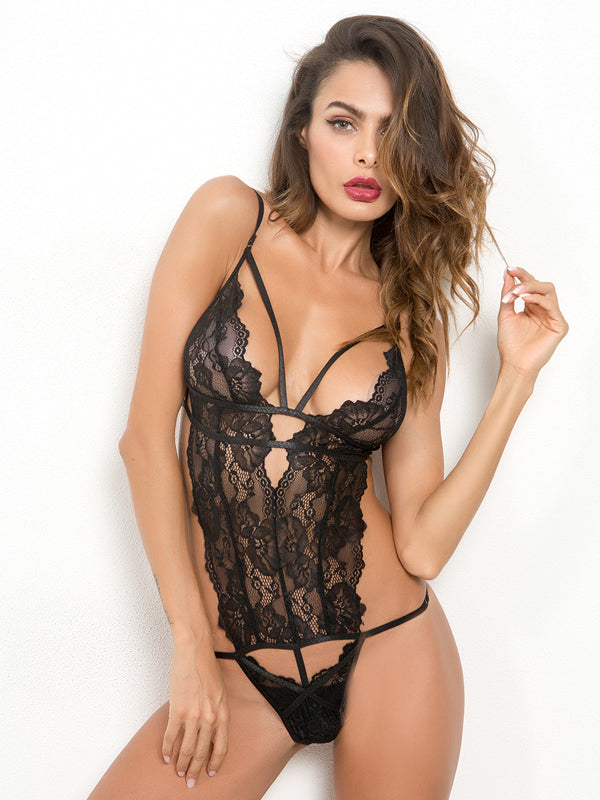 Lace Deep V-neck Sexy Lingerie