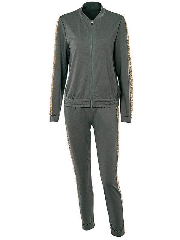 101b341fe52 Fashion Sports Top And Athletic Pants Suits