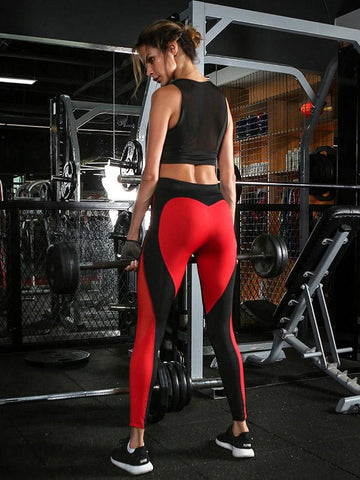 Fashion Sports Top And Athletic Pants Suits