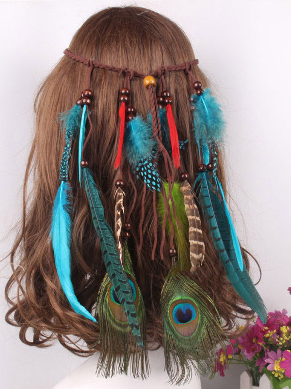 Feather Tasseled Headwear Accessories