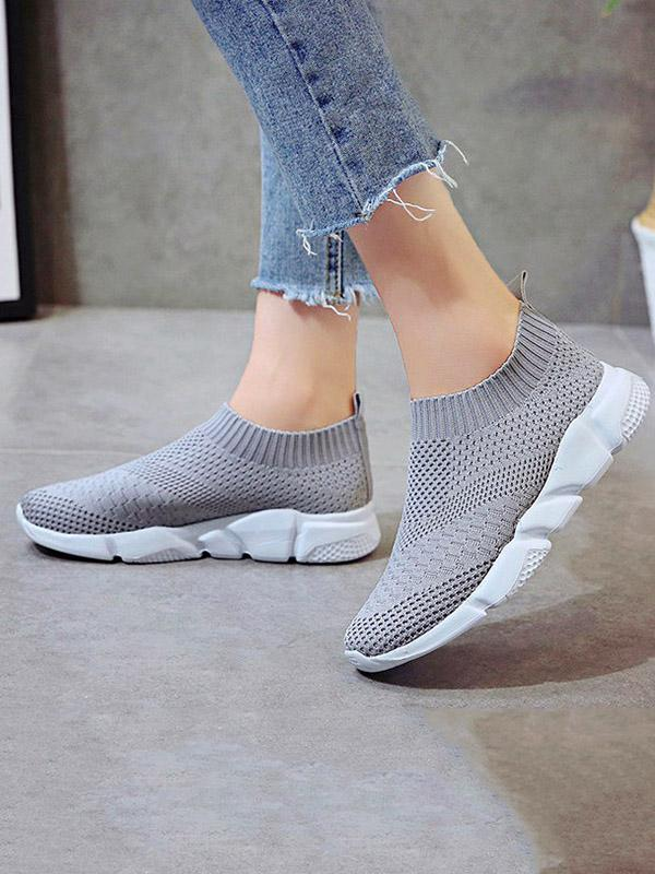 Breathable Mesh Slip-on Sport Shoes