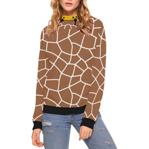 Custom High Neck Pullover Hoodies for Women