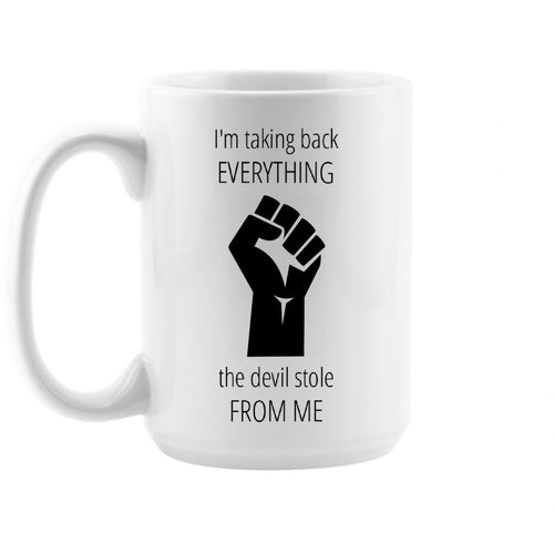 Take Back Devil Stole Mug