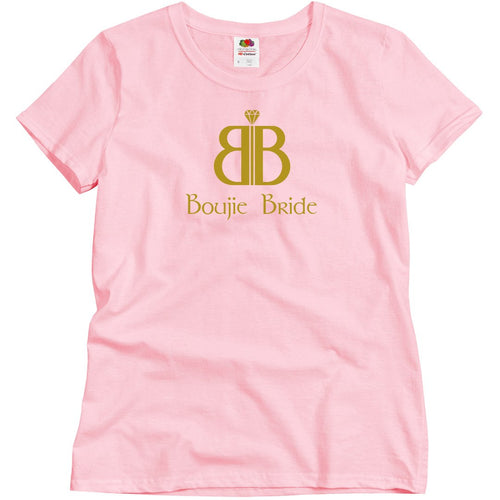 BOUJIE BRIDE with Logo and Catchphrase on Back T-Shirt