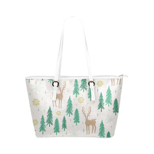 Christmas Small Leather Tote Bags