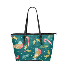 Load image into Gallery viewer, Christmas Small Leather Tote Bags
