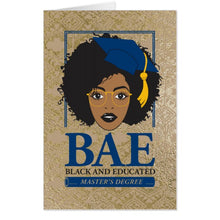 Load image into Gallery viewer, BAE Black and Educated Master's Graduation Jumbo Card