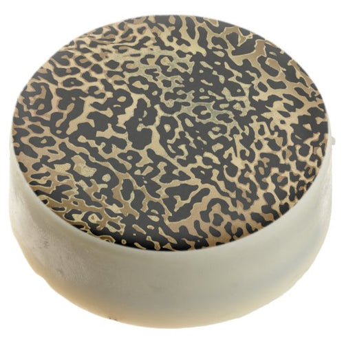 Black and Gold Animal Print Edible Gifts and Favors