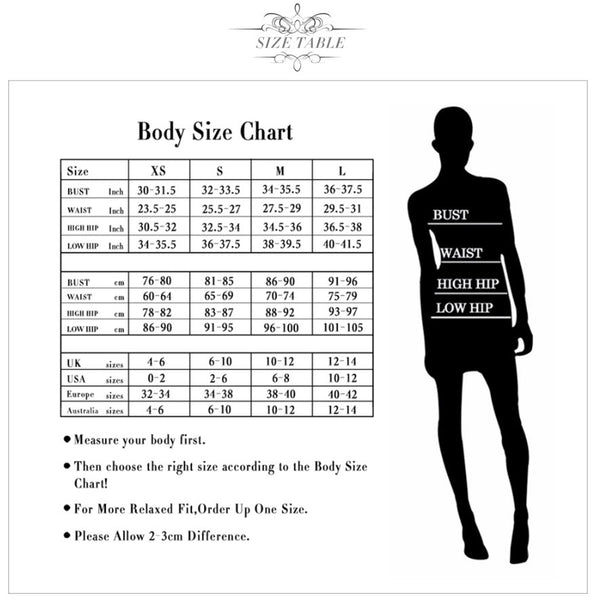 Apricot Bodycon Dress - Size Chart | MegamallExpress.com