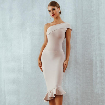 One Shoulder Cocktail Dress  - Women Dresses | MegaMallExpress.com