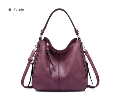 Women Large Hobo Shoulder Totes Wine red / 35 x 13 x 28 cm - Women Handbags & Purses | MegaMallExpress.com