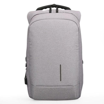 USB Charging Anti-Theft Smart Backpacks Light Grey / 15 Inches - Everyday Backpacks | MegaMallExpress.com