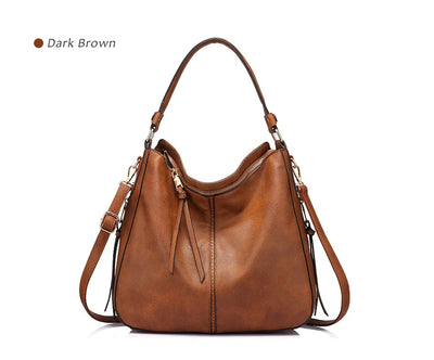 Women Large Hobo Shoulder Totes brown / 35 x 13 x 28 cm - Women Handbags & Purses | MegaMallExpress.com