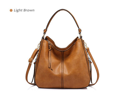 Women Large Hobo Shoulder Totes light brown / 35 x 13 x 28 cm - Women Handbags & Purses | MegaMallExpress.com