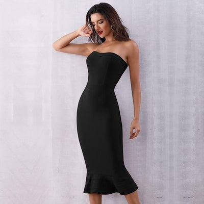2019 Sexy Strapless Party Dresses Black / XS - Women Dresses | MegaMallExpress.com