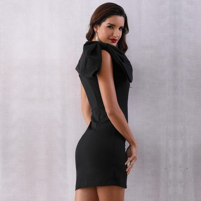 2019 Summer One Shoulder Black Or White Mini Dress  - Women Dresses | MegaMallExpress.com