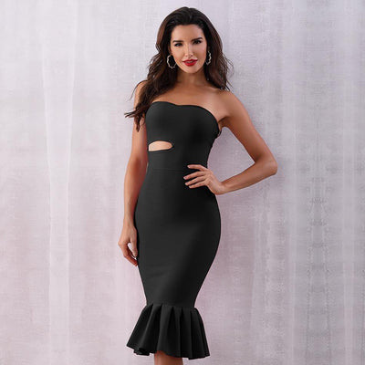 2019 Summer Sexy Strapless Mermaid Club Dresses  - Women Dresses | MegaMallExpress.com