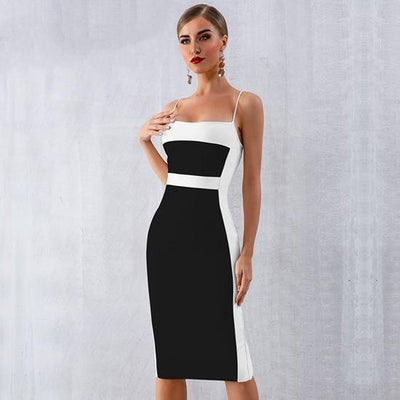 2019 Summer Spaghetti Strap Midi Party Dresses Black / XS - Women Dresses | MegaMallExpress.com