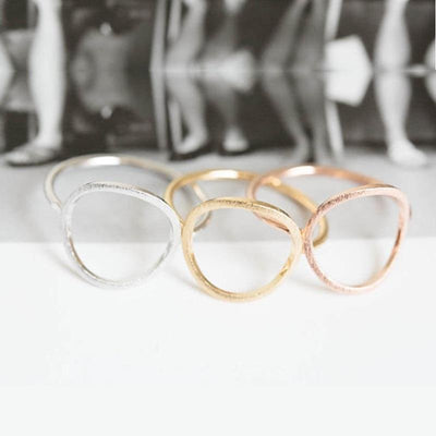 Karma Circle Ring 6.5 / Rose Gold Color - Formal Rings | MegaMallExpress.com