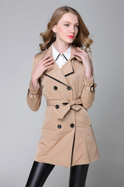 Women Double Breasted Trench Coat  - Women Jackets & Coats | MegaMallExpress.com