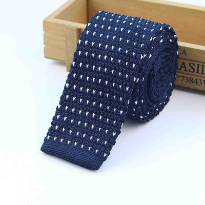 Knitted Ties for Men Blue 1 - Men Ties & Accessories | MegaMallExpress.com