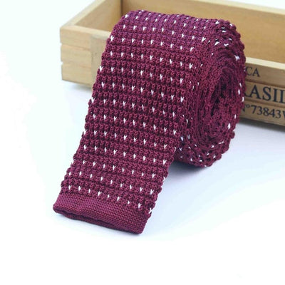 Knitted Ties for Men Red 2 - Men Ties & Accessories | MegaMallExpress.com