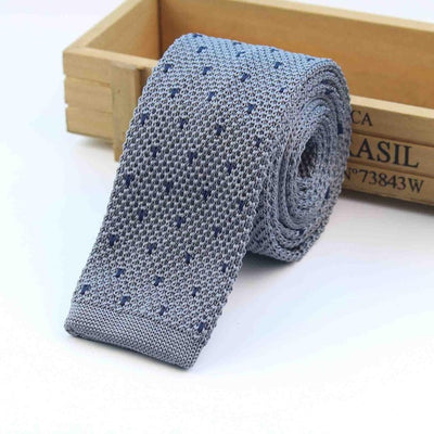 Knitted Ties for Men Blue 3 - Men Ties & Accessories | MegaMallExpress.com