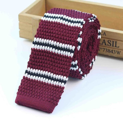 Knitted Ties for Men Red 6 - Men Ties & Accessories | MegaMallExpress.com