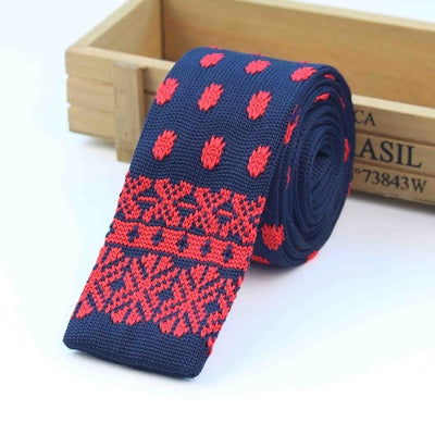 Knitted Ties for Men Red 8 - Men Ties & Accessories | MegaMallExpress.com