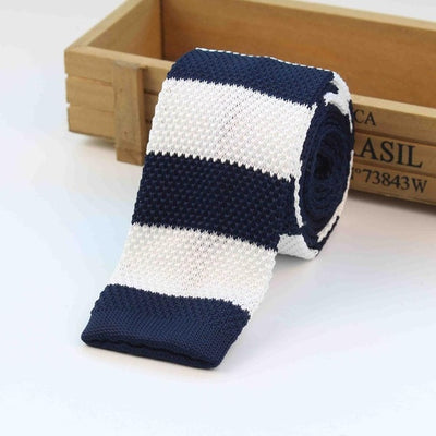 Knitted Ties for Men Blue 10 - Men Ties & Accessories | MegaMallExpress.com