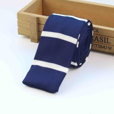 Knitted Ties for Men Blue 14 - Men Ties & Accessories | MegaMallExpress.com