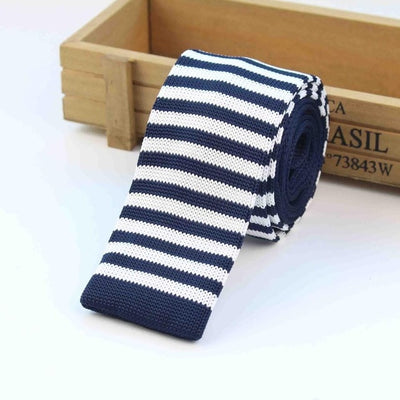 Knitted Ties for Men Blue 15 - Men Ties & Accessories | MegaMallExpress.com