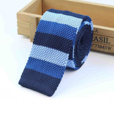 Knitted Ties for Men Blue 18 - Men Ties & Accessories | MegaMallExpress.com